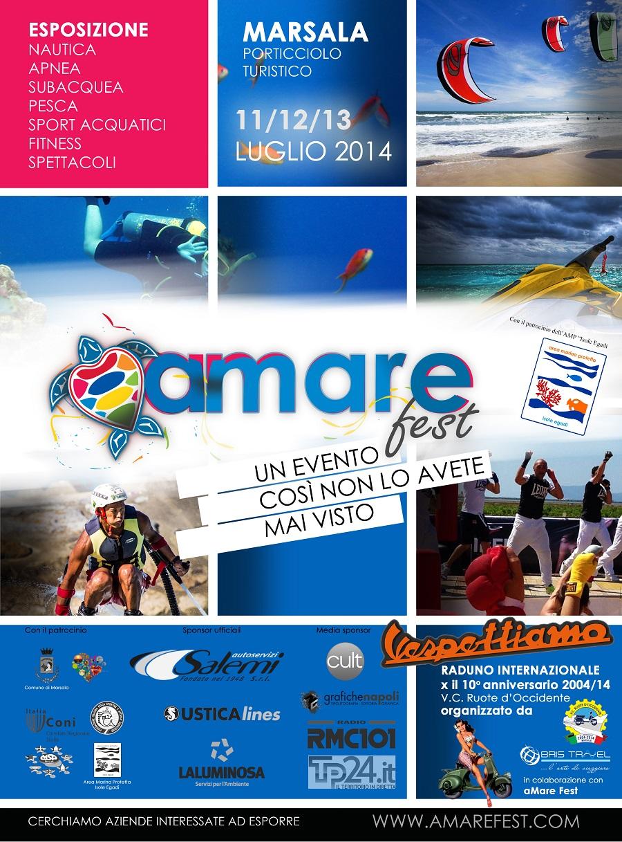 """""""Amarefest"""", per la prima volta a Marsala una tre giorni di eventi… per il mare (11-13 luglio 2014)"""