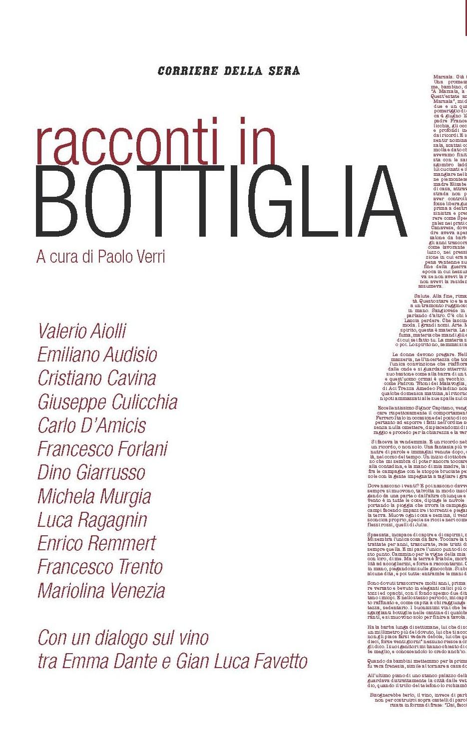 """Marsala vince il secondo premio con il progetto editoriale """"Racconti in bottiglia"""""""