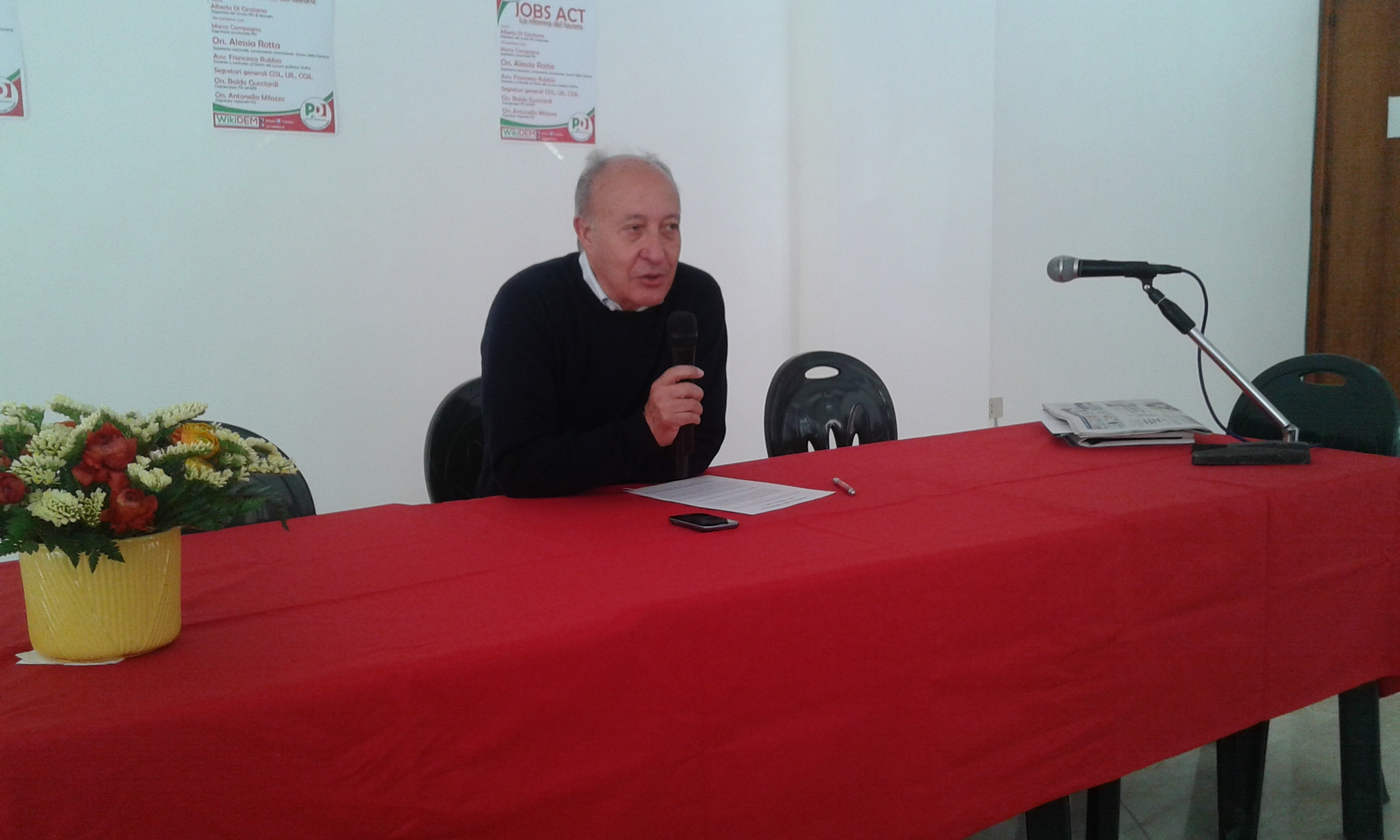 """Alberto Di Girolamo presenta i """"tavoli tematici"""""""