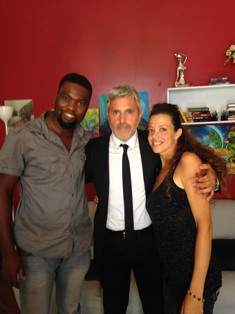 """La marsalese Marta Adamo e il nigeriano Jonny Affun ieri in onda su """"Le Iene"""""""