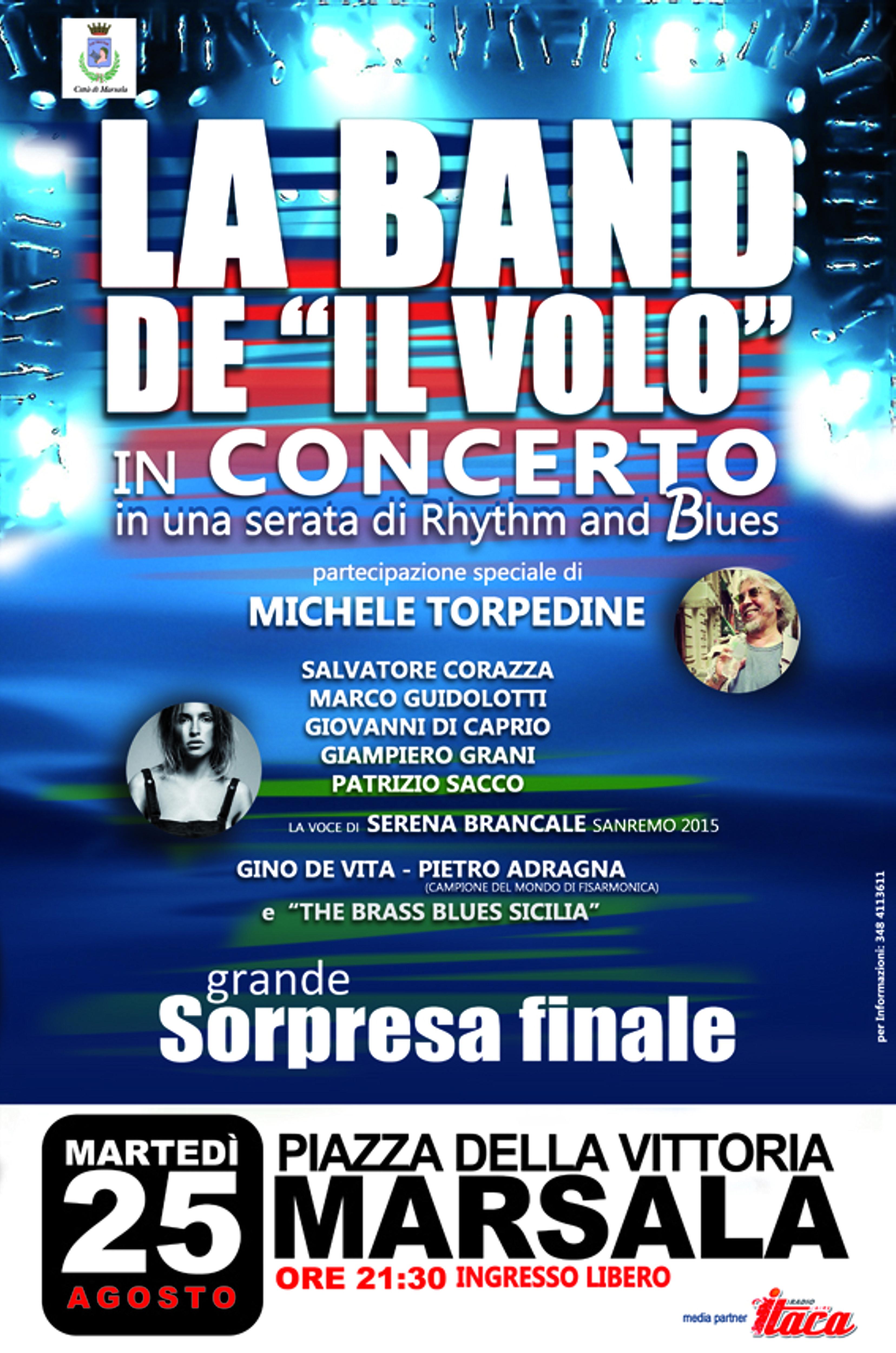 """La band de """"Il Volo"""" a Marsala in una grande serata a Porta Nuova il 25 agosto"""