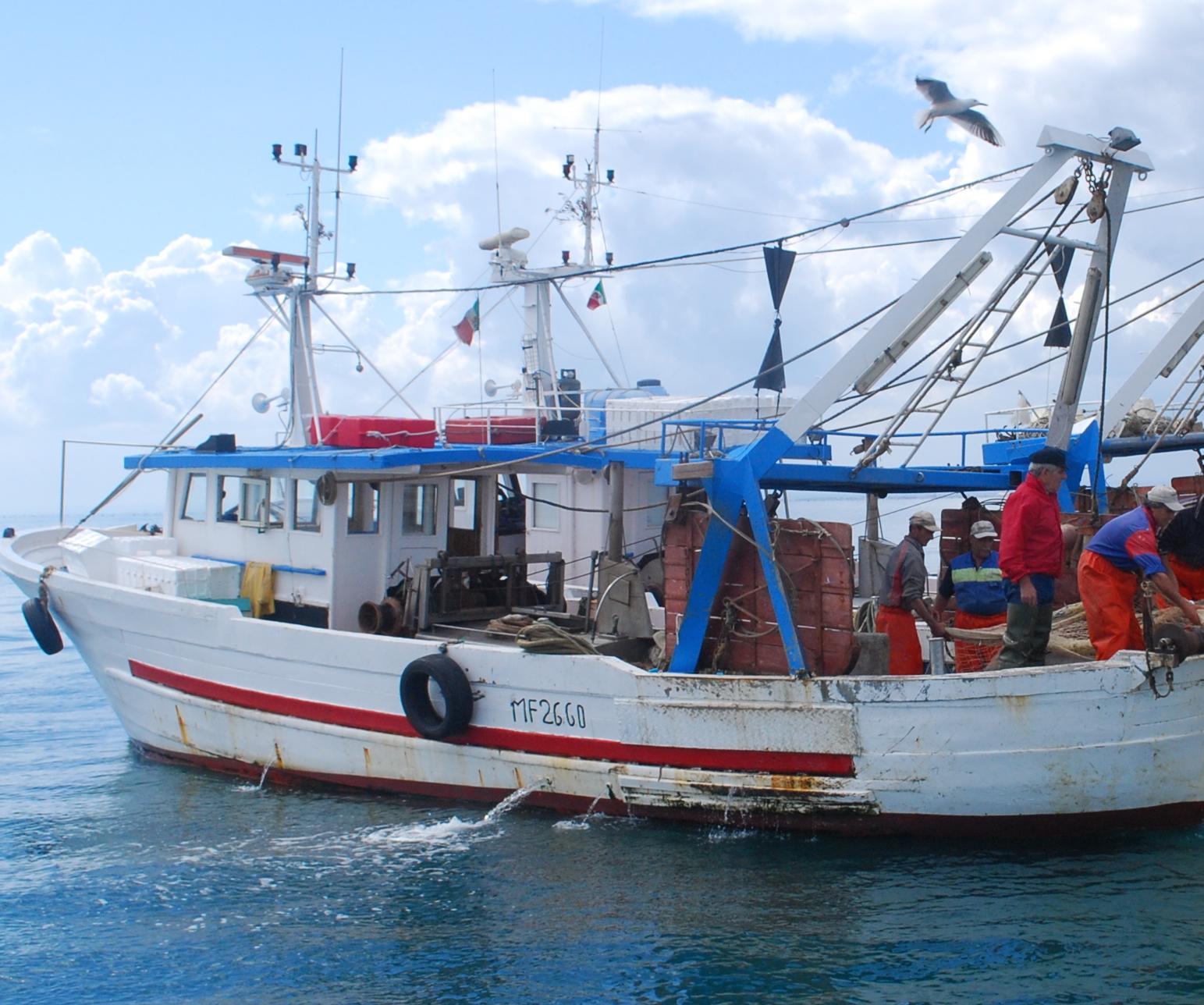 Medici a bordo di un peschereccio mazarese per studiare le condizioni di lavoro dei pescatori