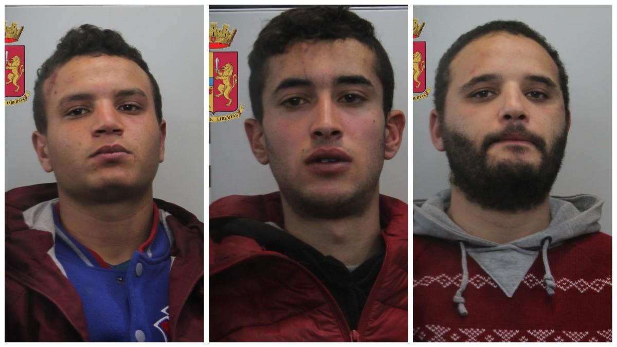 """Arrestati tre giovani tunisini sorpresi a scassinare i distributori automatici del """"Serraino Vulpitta"""""""