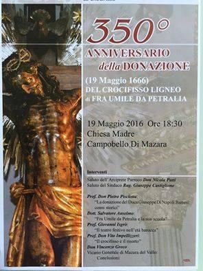 Locandina 350 donazione S.s. Crocifisso Campobello