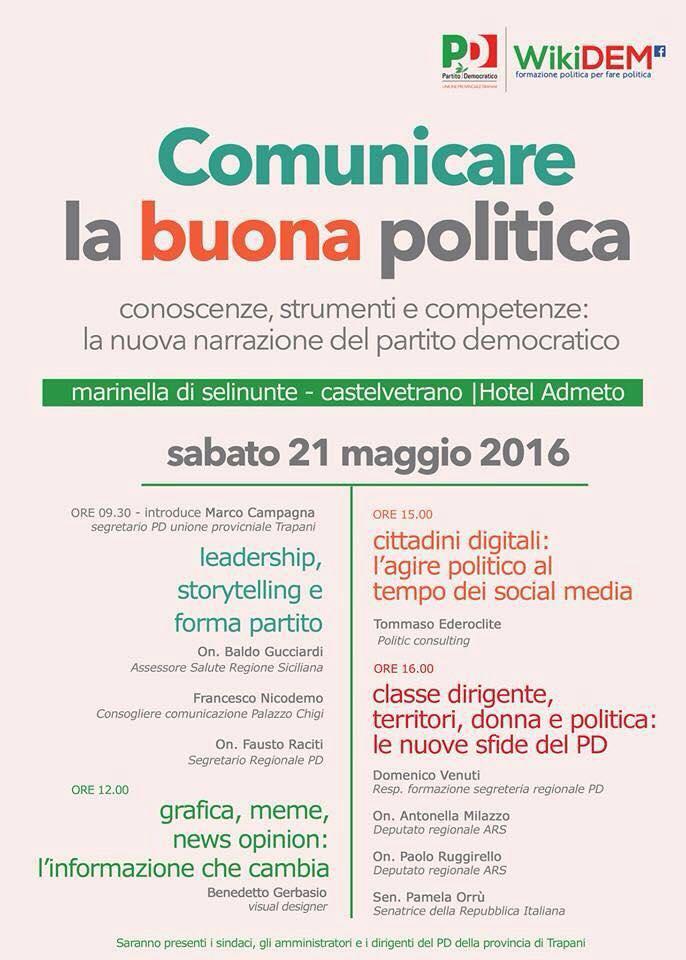 Pd: a Marinella di Selinunte il terzo appuntamento della scuola di formazione politica