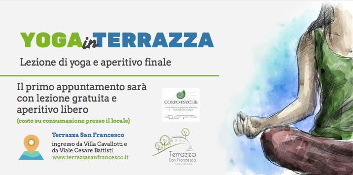 """Alla Terrazza San Francesco """"Corpo e Psyche"""": evento di Yoga e buon cibo"""