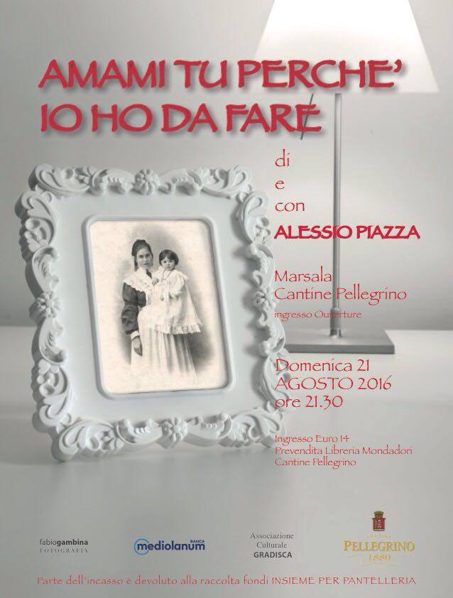 """L'attore Alessio Piazza torna in scena con """"Amami tu perchè io ho da fare"""""""