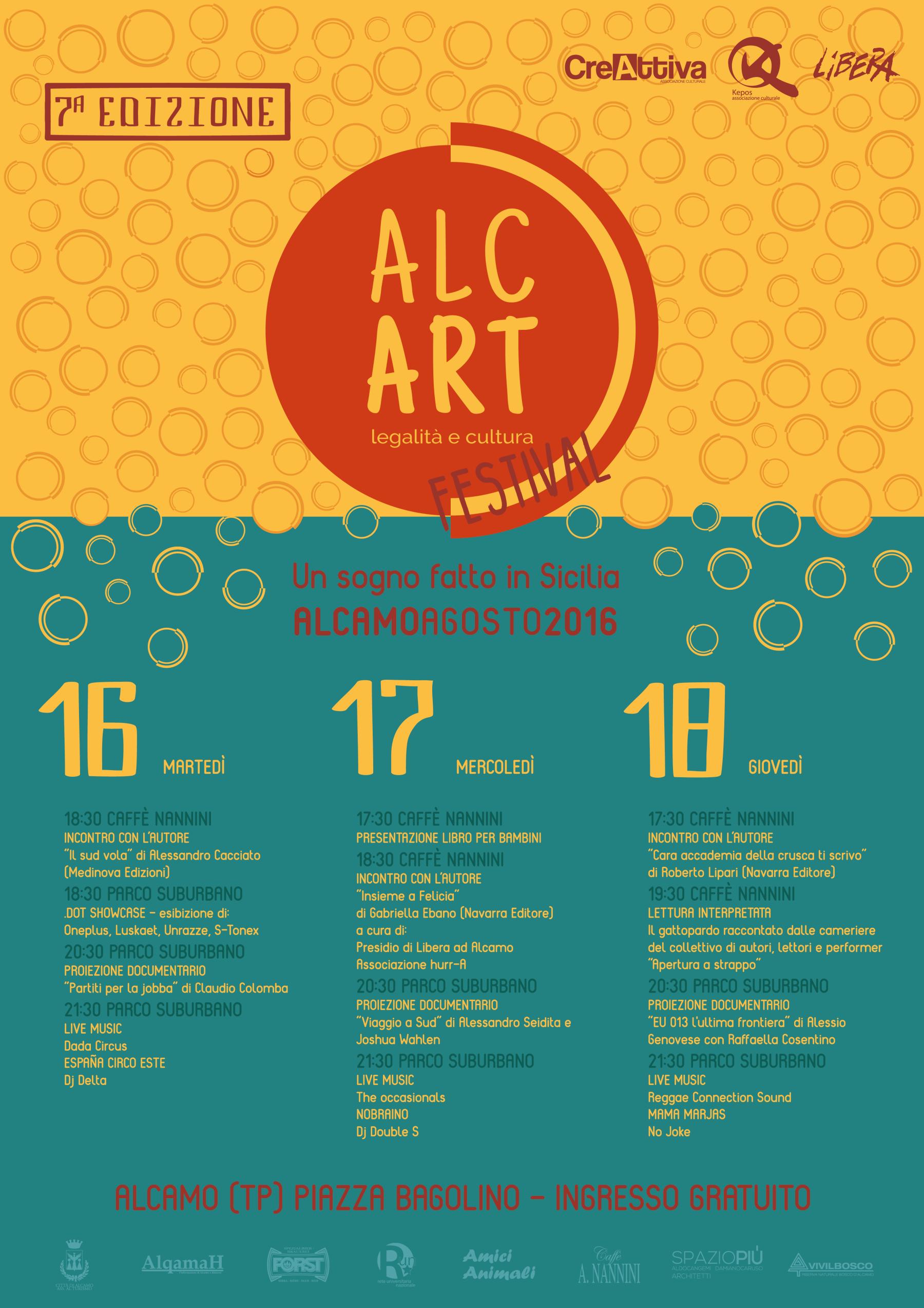 """Dal 16 al 18 agosto torna il Festival """"Alcart"""": tre giorni di eventi tra editoria, documentari e musica"""