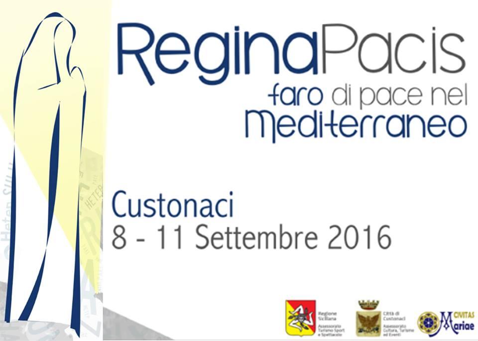 """""""Regina Pacis. Faro di Pace nel Mediterraneo"""" a Custonaci. Gli eventi dall'8 all'11 settembre"""