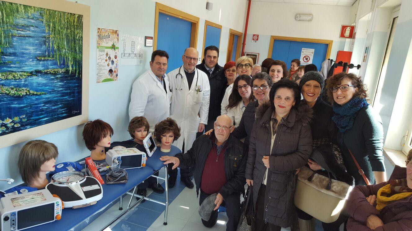 """""""Donare rende felici"""", nuove attrezzature e accessori nel reparto oncologico del Sant'Antonio"""