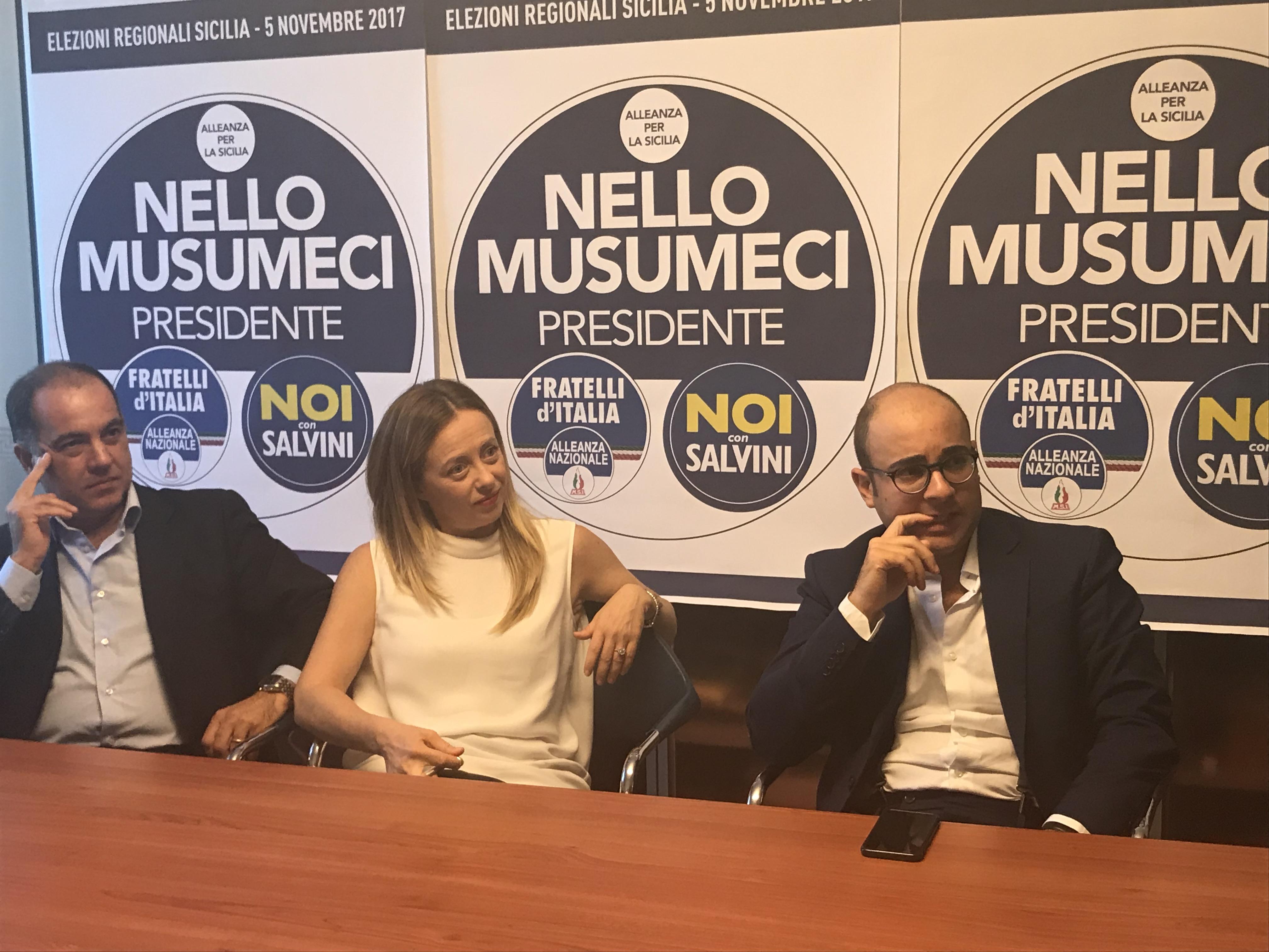 """Giorgia Meloni a Trapani: """"con Musumeci vogliamo restituire la Sicilia ai siciliani"""""""
