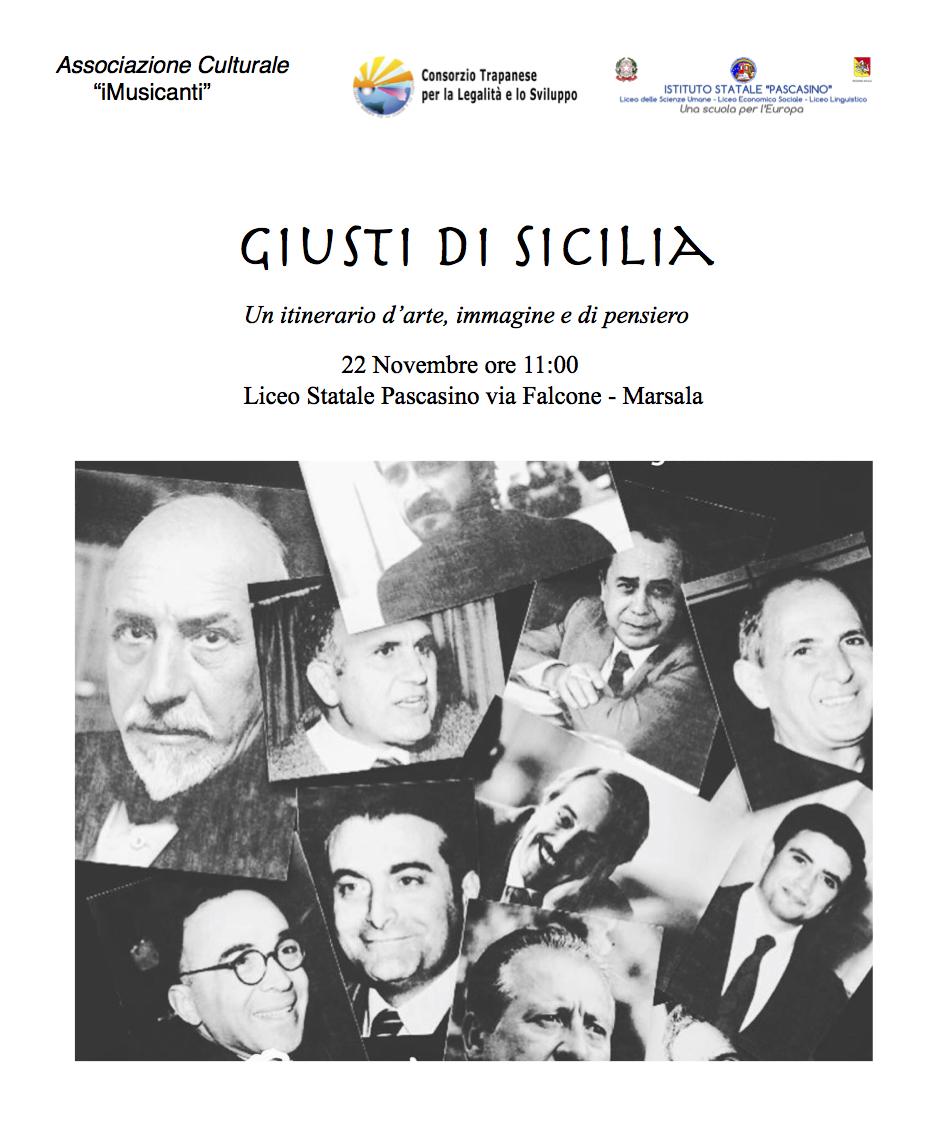 """I Musicanti e i """"Giusti di Sicilia"""", itinerario di musica e legalità nelle scuole"""