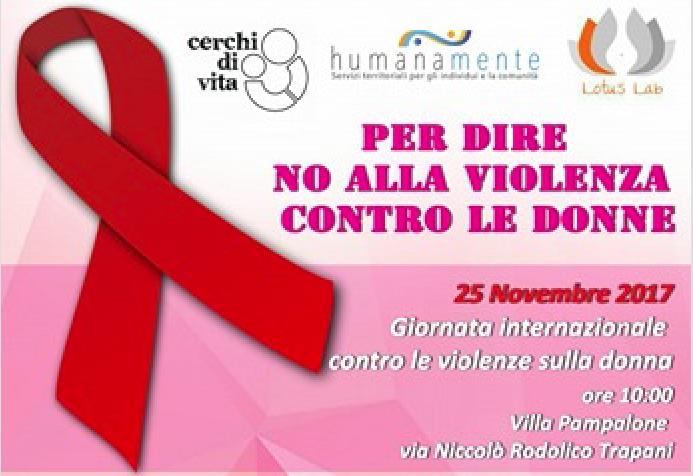"""""""Per dire no alla violenza contro le donne"""" un'iniziativa a Trapani"""