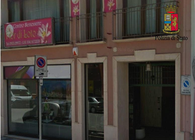La Polizia sequestra un centro massaggi a luci rosse a Trapani