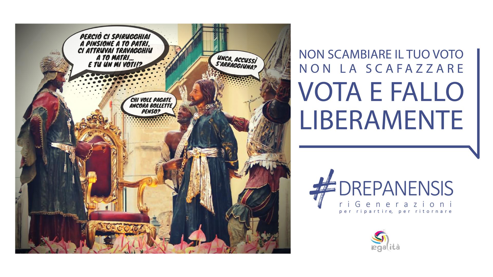 Elezioni a Trapani: l'associazione Drepanensis lancia una campagna contro il voto di scambio