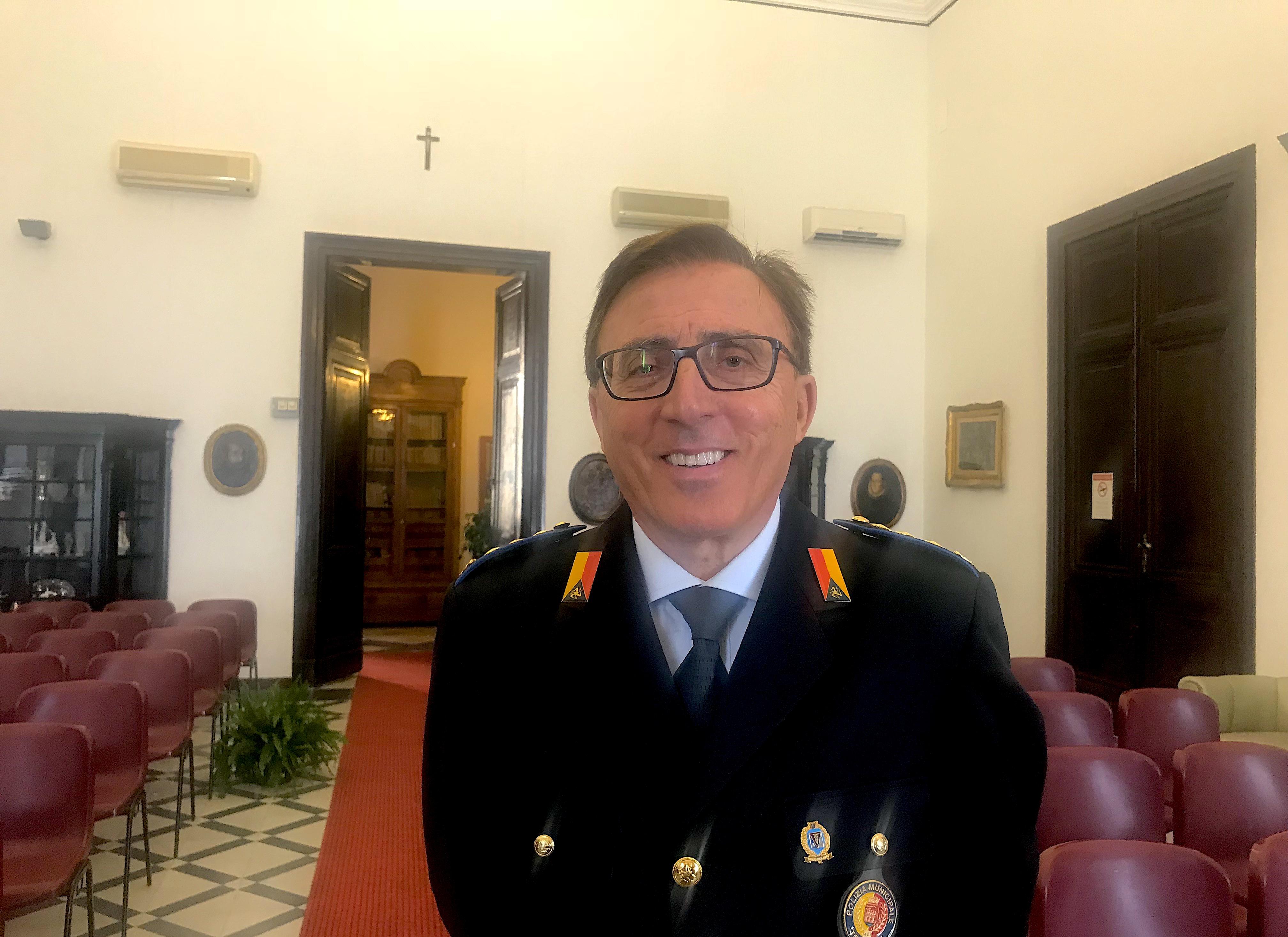 """Trapani. Serafino Di Peri è il nuovo Comandante di Polizia Municipale: """"presto l'incremento del personale, nuovi mezzi e strumenti"""""""