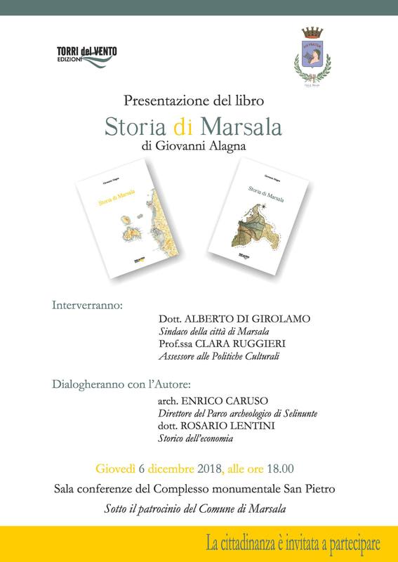 """Lo storico Giovanni Alagna presenta """"Storia di Marsala"""" a San Pietro"""