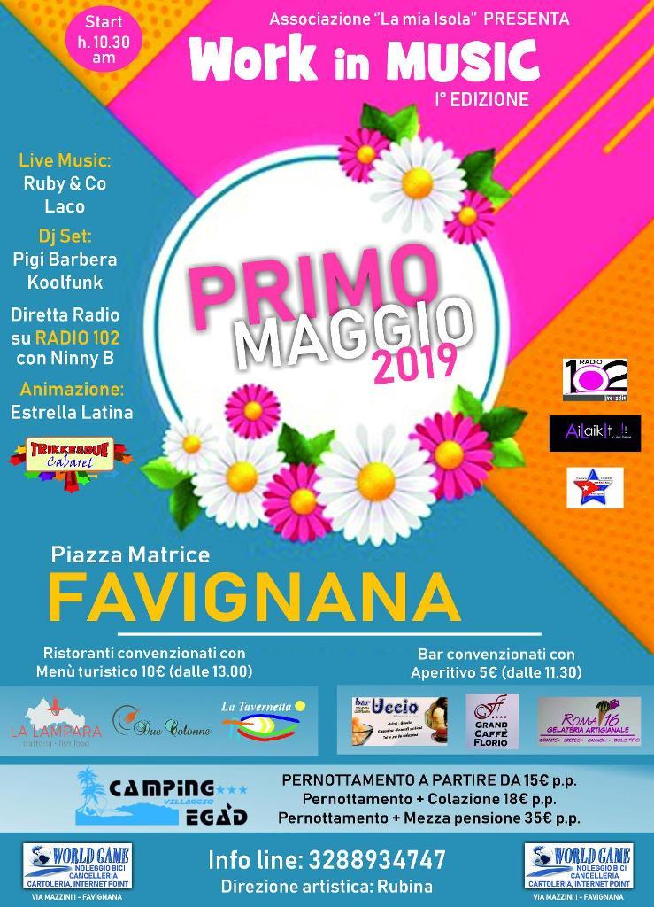 """Il Primo Maggio in Provincia: a Favignana è """"Work in Music"""""""