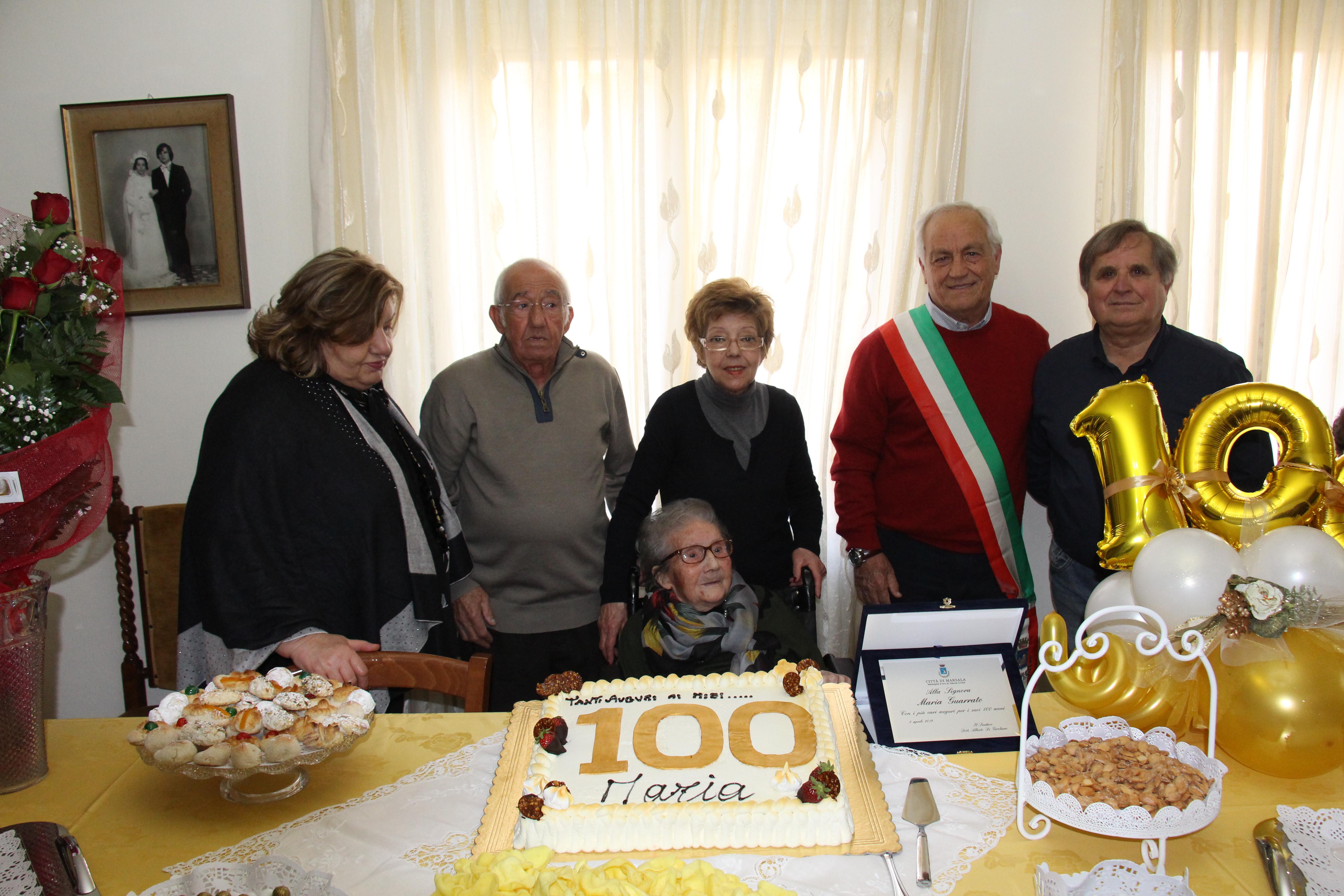 La marsalese Maria Guarrato spegne le 100 candeline