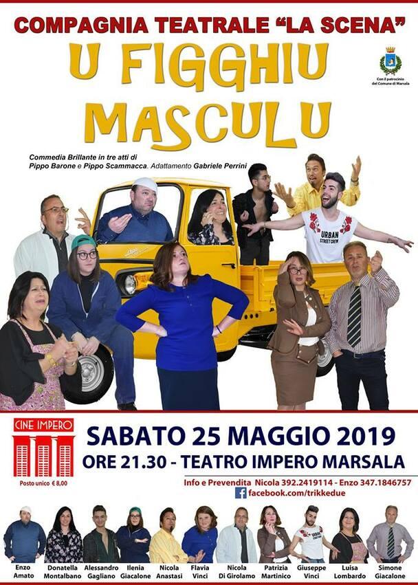 """All'Impero la commedia """"U figghiu masculu"""". La Compagnia 'La Scena' cerca attori per progetto teatrale"""