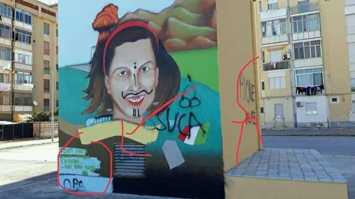 Vandalizzato a Trapani il murales dedicato a Francesca Morvillo. Deferito un minore