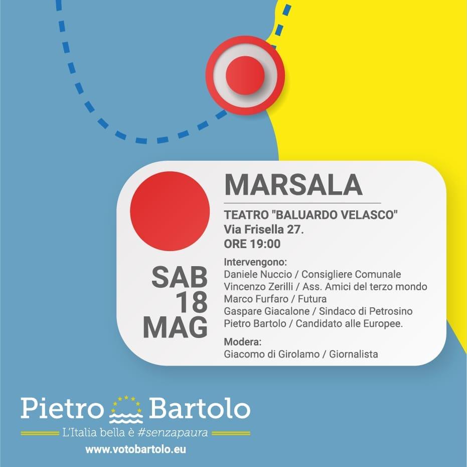 Europee, Pietro Bartolo incontra domani gli elettori in Provincia di Trapani