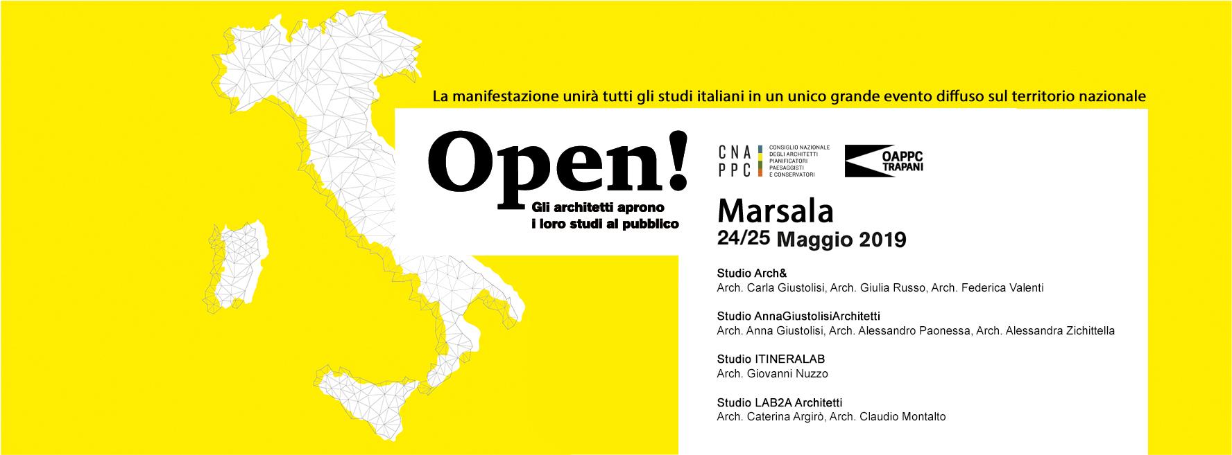 Studi Aperti, per l'evento nazionale anche gli architetti di Marsala aprono le porte