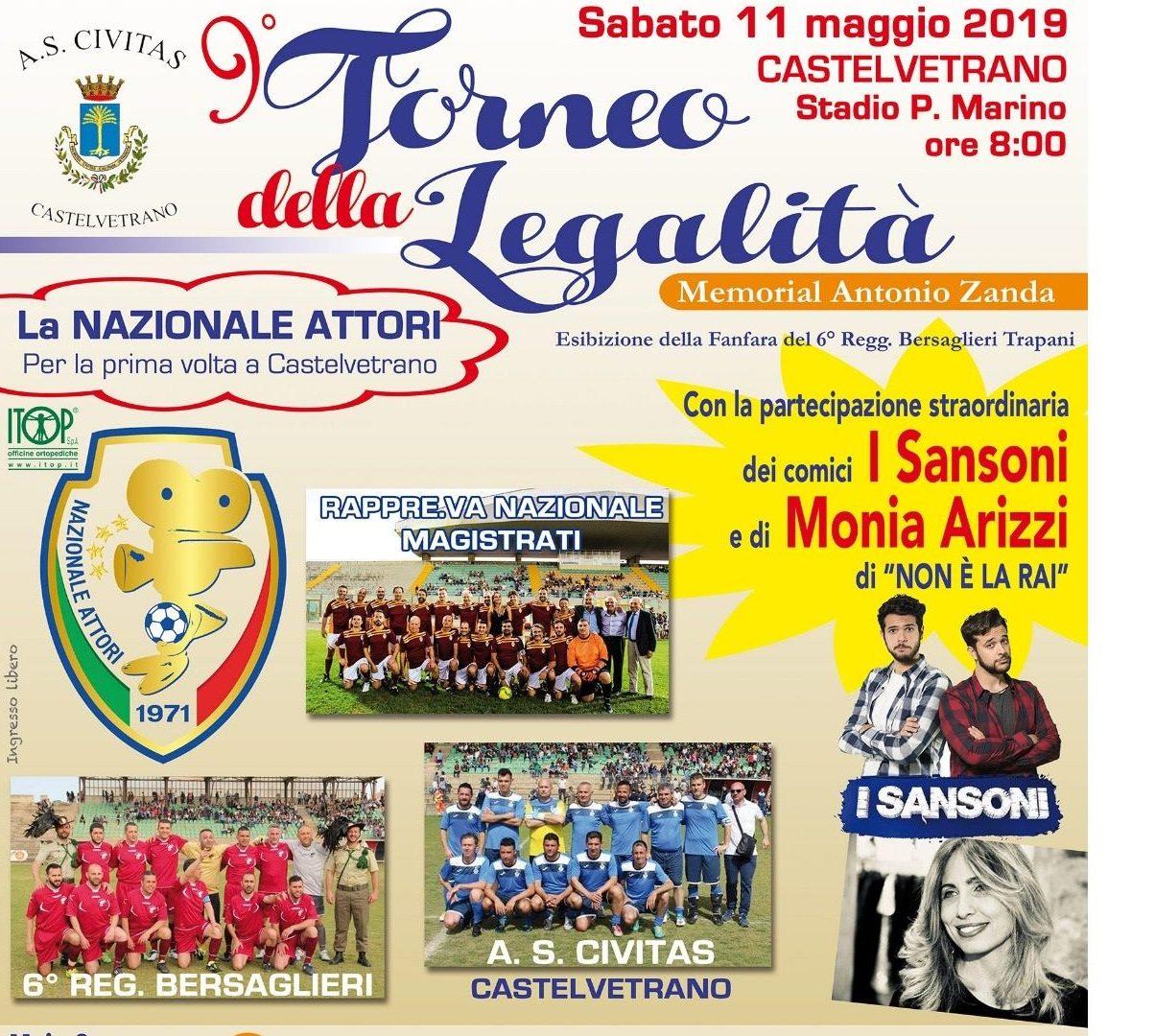 Castelvetrano: al via la IX edizione del Torneo della Legalità