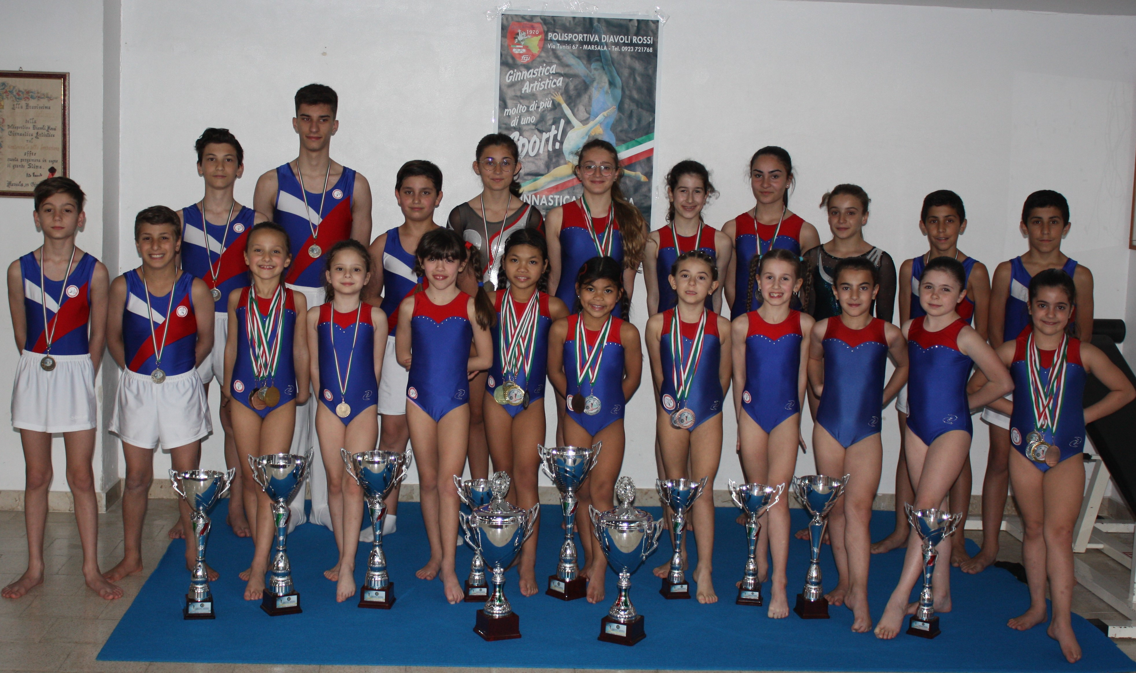 Bottino di medaglie e titoli nazionali per i Diavoli Rossi di Marsala