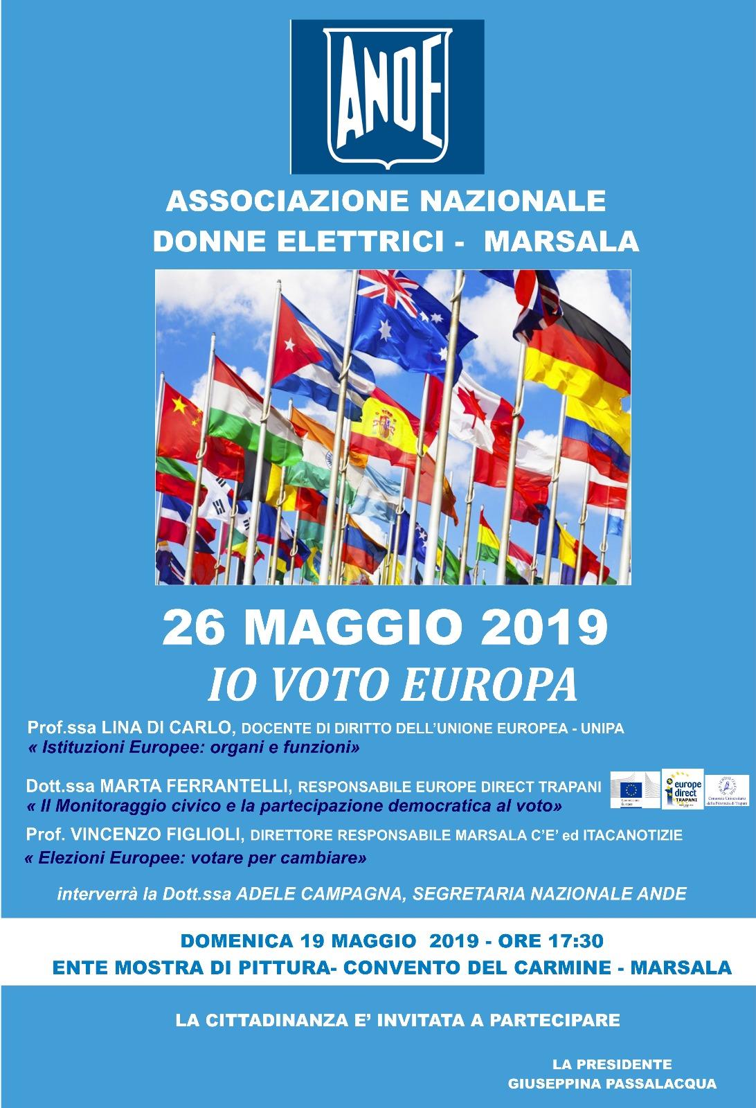 """L'Ande di Marsala organizza """"Io Voto Europa""""."""