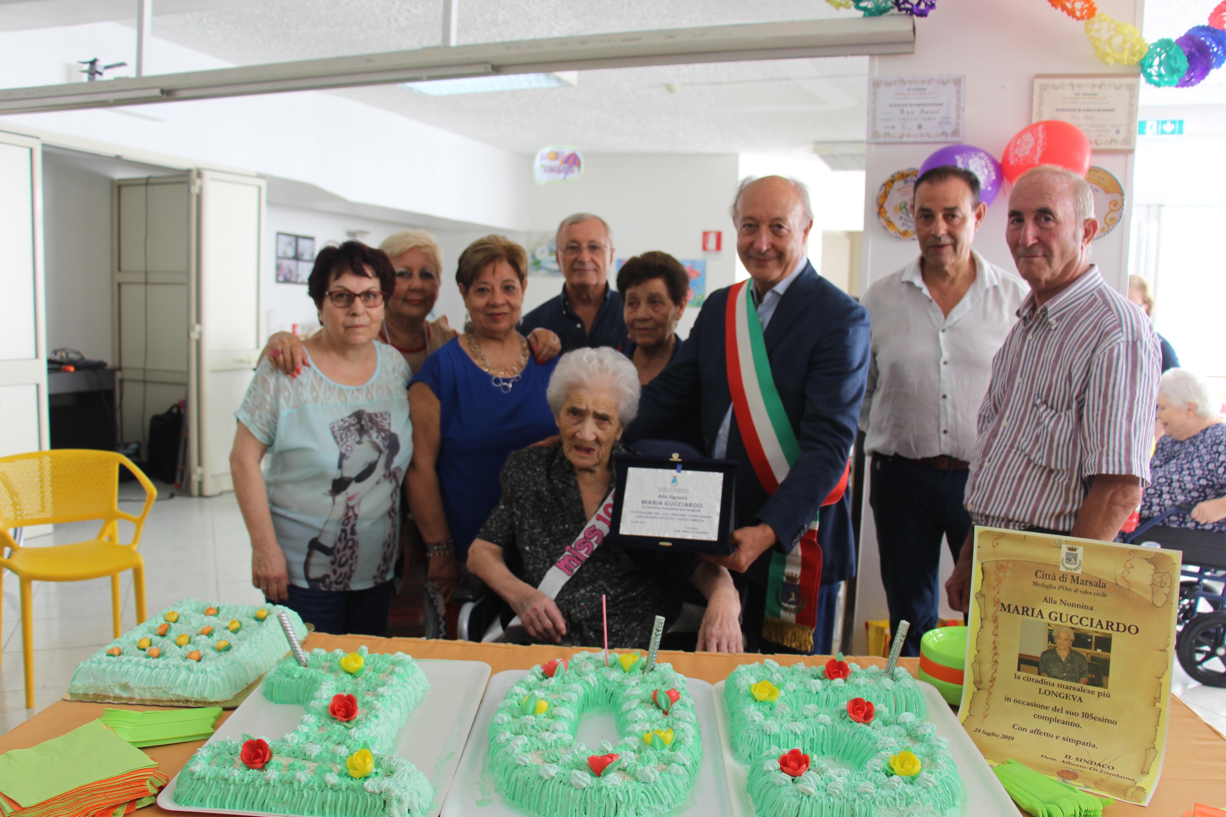 Marsala: la nonna più longeva è Maria Gucciardo, 105 anni