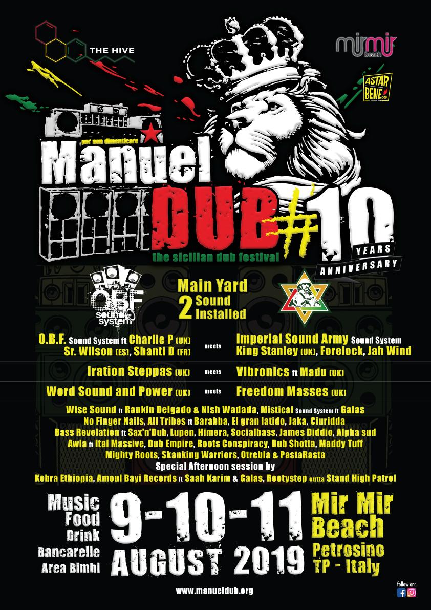 """Tre giorni di reggae e vibrazioni con il """"Manuel Dub"""": si inizia venerdì a Petrosino"""
