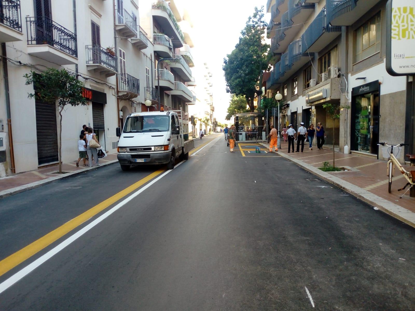 Marsala, nuove disposizioni sul traffico e sulla sosta nella via Roma