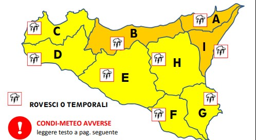 Arriva il maltempo in Sicilia: piogge e vento in tutta l'isola