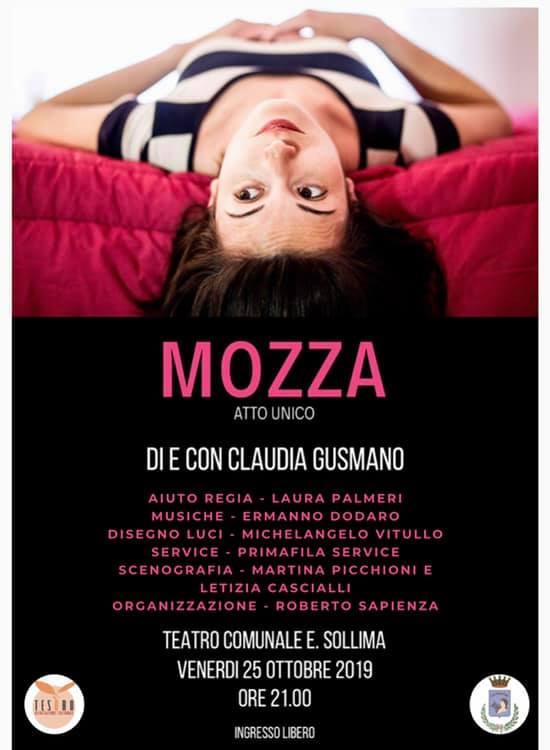 """Al Teatro """"Sollima"""" in scena 'Mozza' di Claudia Gusmano"""