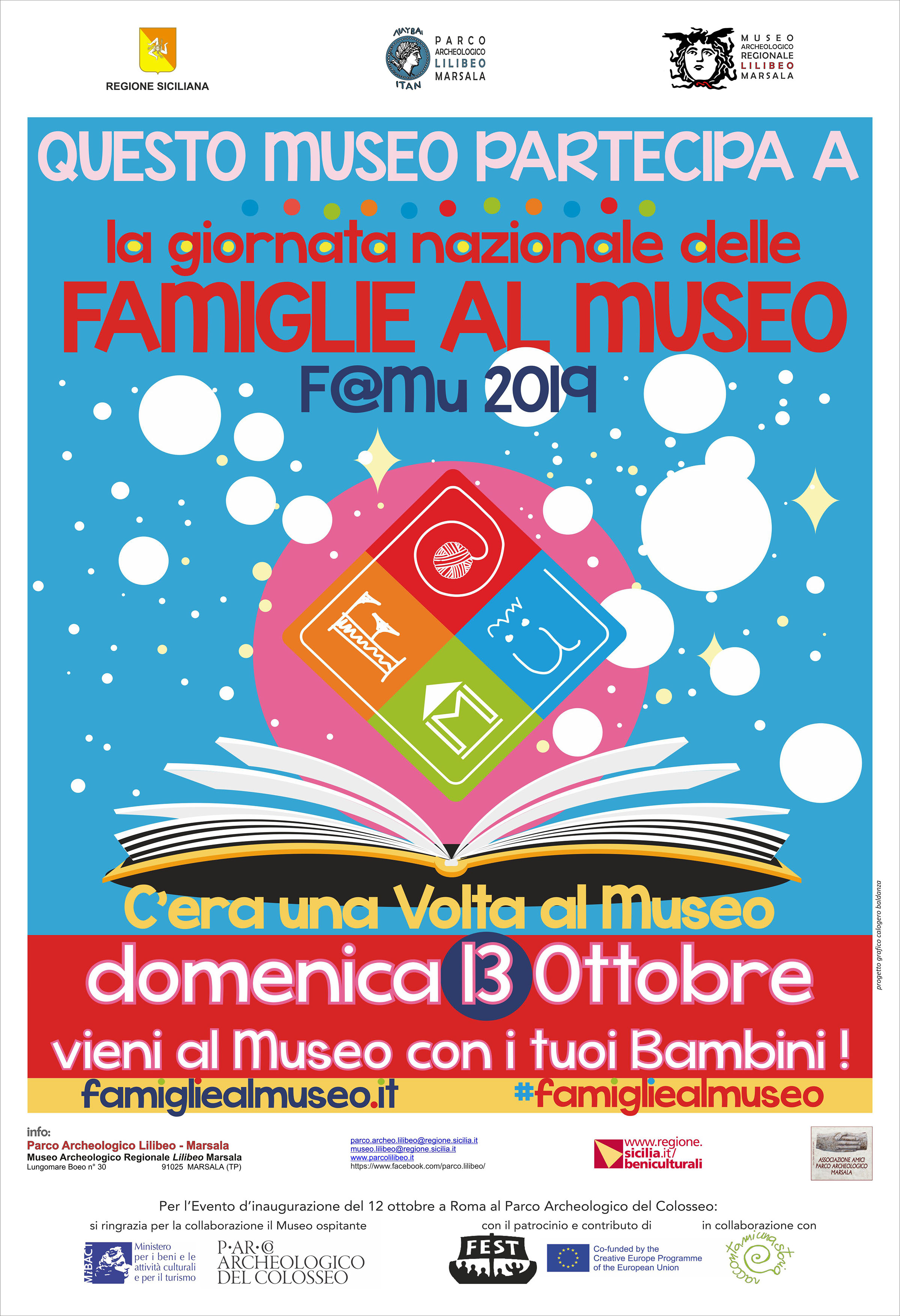 F@mu: al Museo Lilibeo la Giornata dedicata alle famiglie