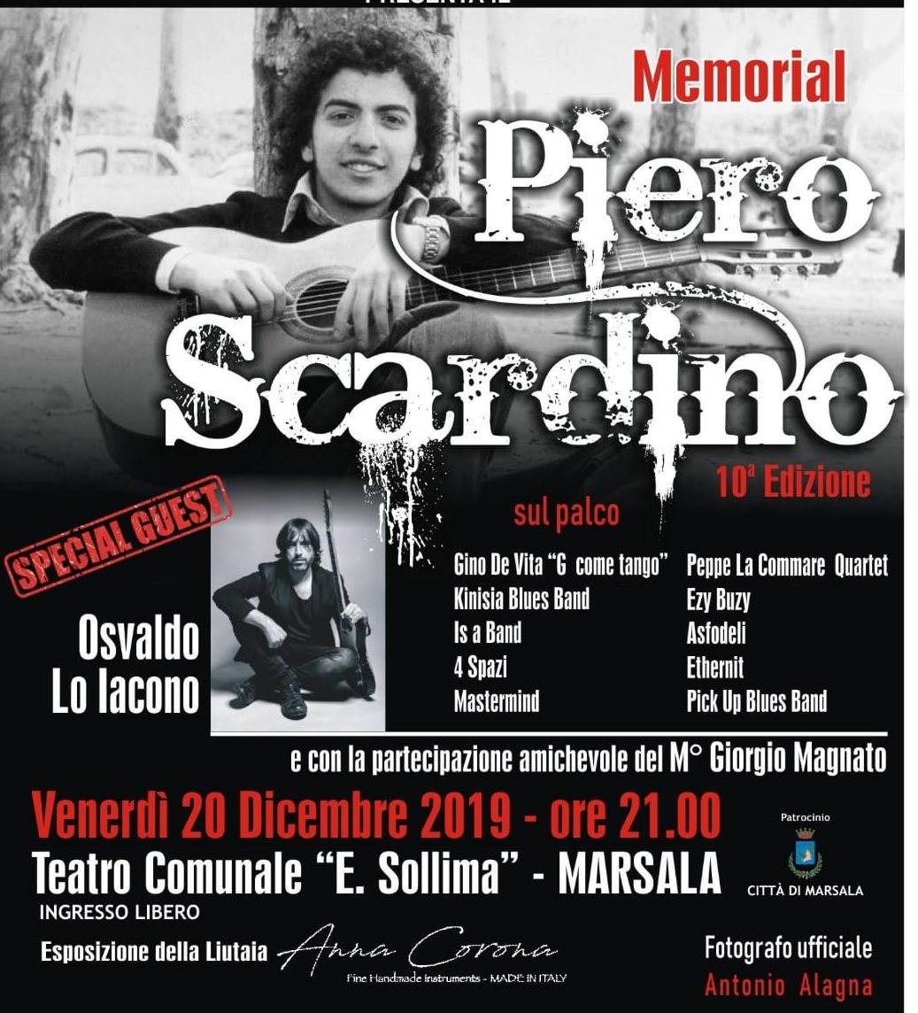 """Torna al Teatro Sollima il Memorial """"Piero Scardino"""", la 10° edizione il 20 dicembre"""