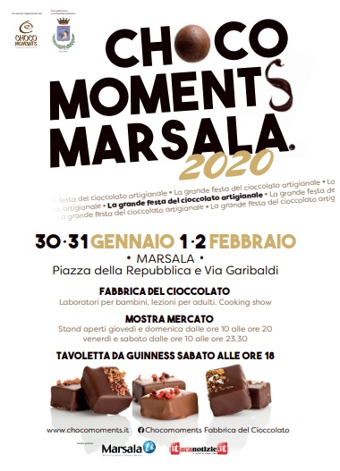 Chocomoments, la Festa del Cioccolato a Marsala dal 30 gennaio al 2 febbraio