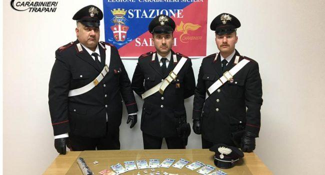 Salemi: i Carabinieri arrestano un uomo per spaccio di droga