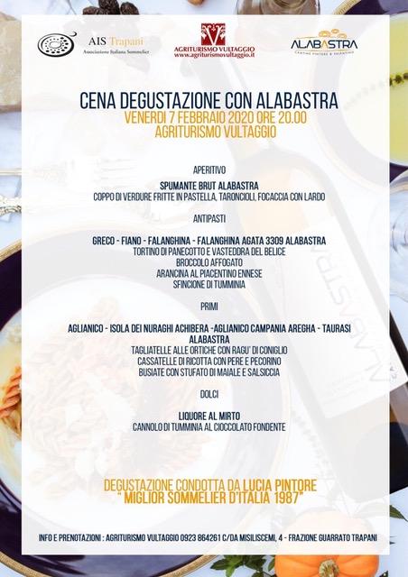 Evento gastronomico dell'AIS Trapani con la prima donna Sommelier d'Italia
