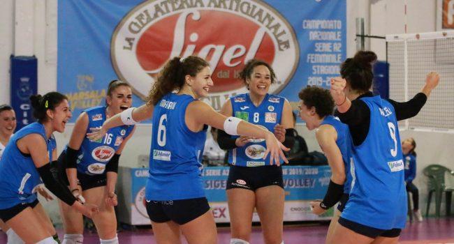 Il Marsala Volley vince e abbandona l'ultimo posto in classifica A 2