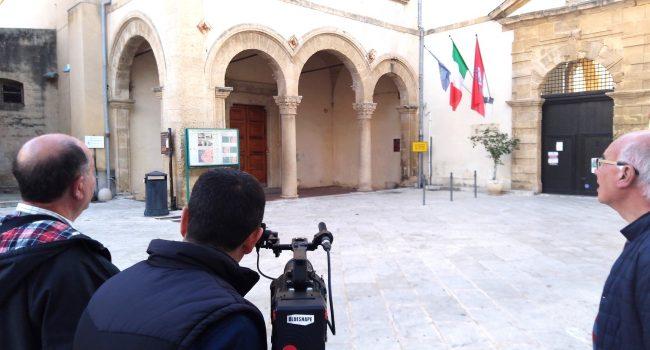 Troupe televisiva maltese a Marsala per delle riprese