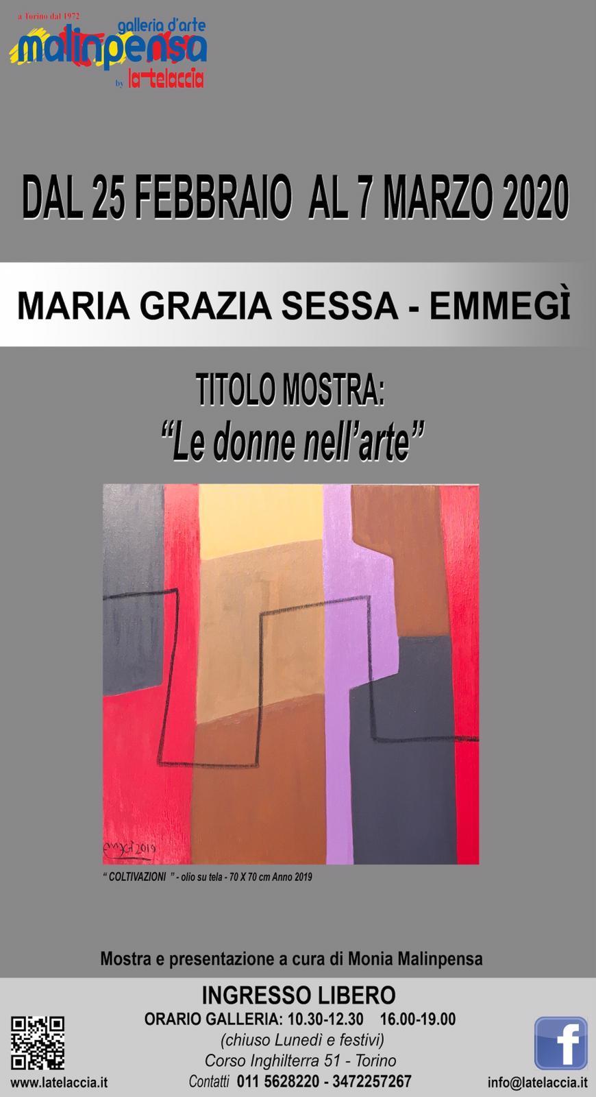 Le donne nell'arte, a Torino in mostra una tela di Maria Grazia Sessa