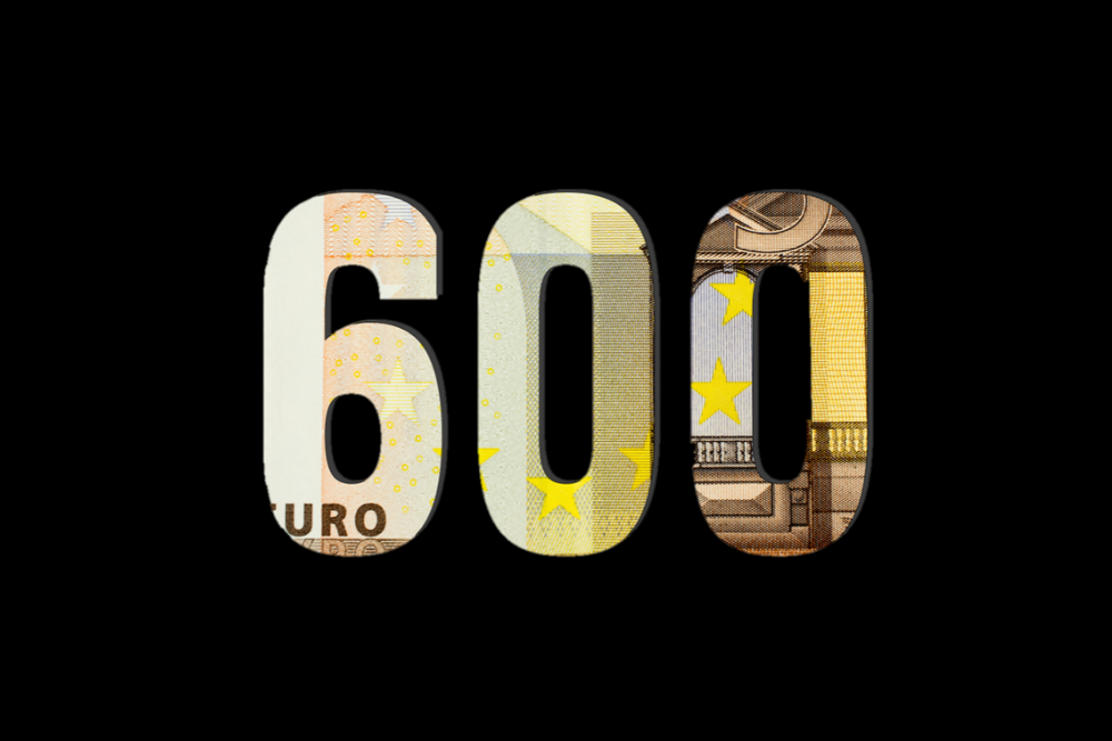 600$ In Euro