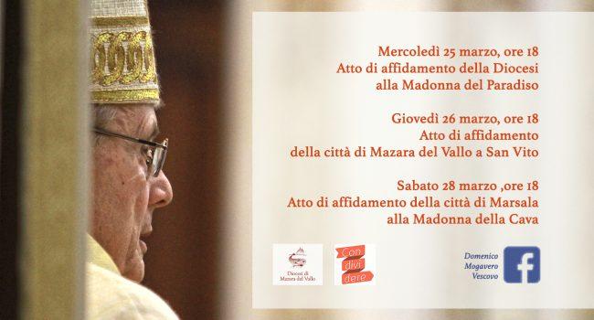 Il Vescovo Mogavero affida le Città di Mazara e Marsala ai Santi Patroni