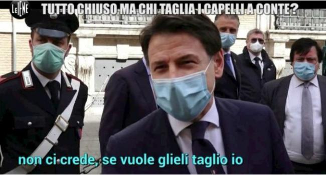 """Il premier Conte: """"I capelli? Me li taglio da solo"""". E Rocco Casalino: """"C'ha sta fissa qua"""""""