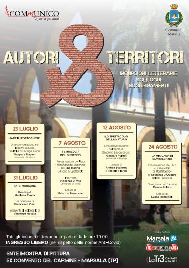 """Al Carmine prende il via """"Autori & Territori"""", rassegna letteraria in 5 appuntamenti"""