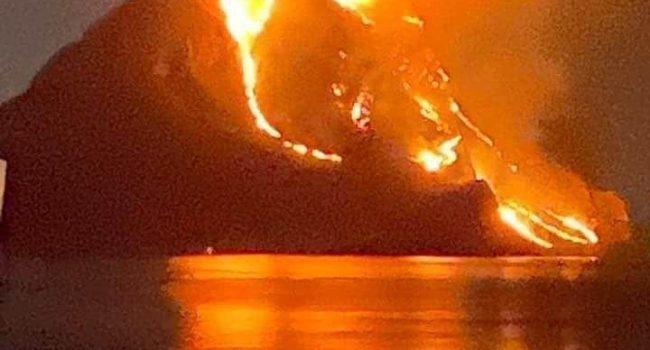 """Incendio Monte Cofano, il sindaco Peraino: """"Azione criminale"""""""