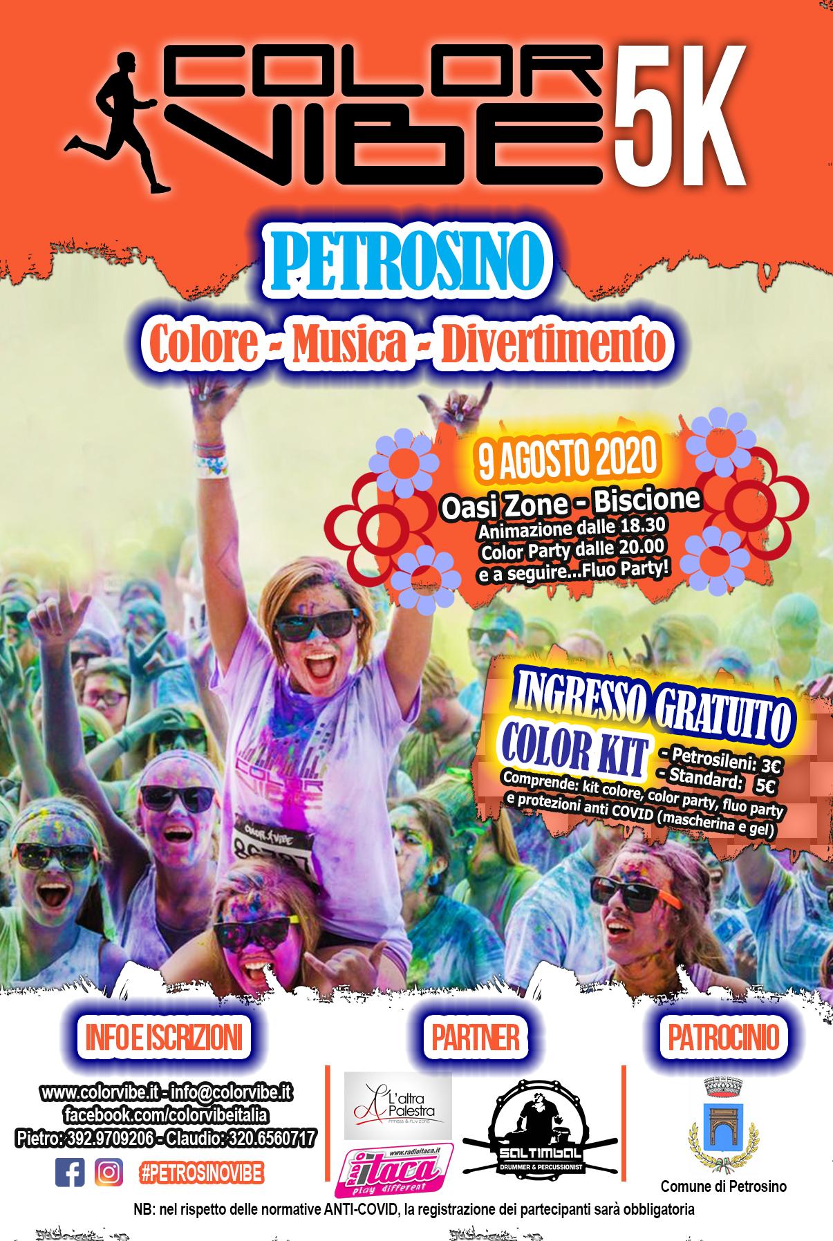 Petrosino Color Vibe 5k, il 9 agosto è festa