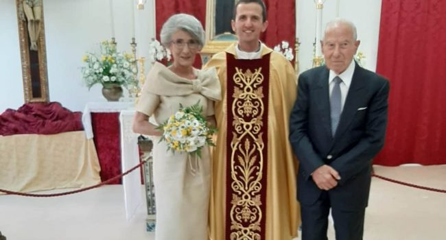 Marsala: nozze di diamante, Anna e Vito 60 anni insieme